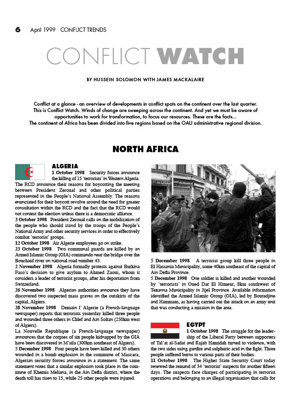 ACCORD - Conflict Trends 1999-1