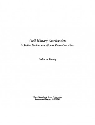 Book - Sample - ACCORD - Civil Military Coordination in UN and Africa Peace Operations