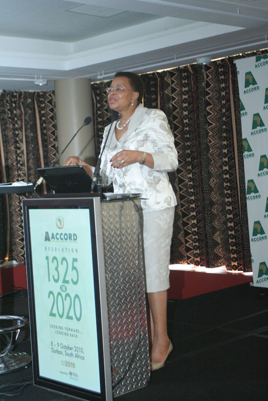 Mdm Graca Machel at the ACCORD seminar 1325 in 2020