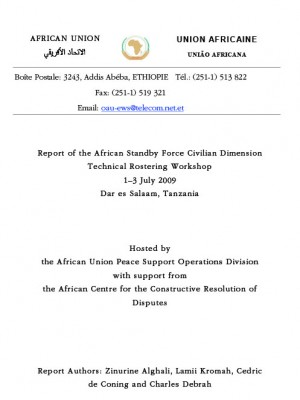 ACCORD - Report - Report of the African Standby Force Civilian Dimension Technical Rostering Workshop - English