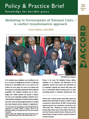 ACCORD - PPB - 3 - Mediating to Governments of National Unity