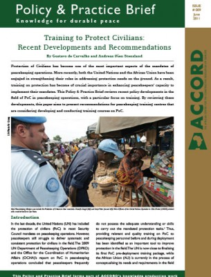 ACCORD - PPB - 9 - Training to Protect Civilians