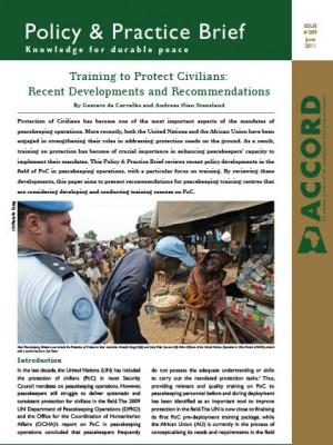 ACCORD - PPB - 9 - Training to Protect Civilians