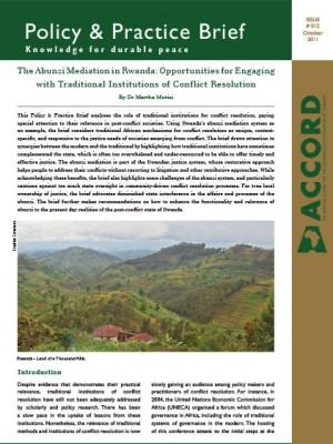 ACCORD - PPB - 12 - The Abunzi Mediation in Rwanda