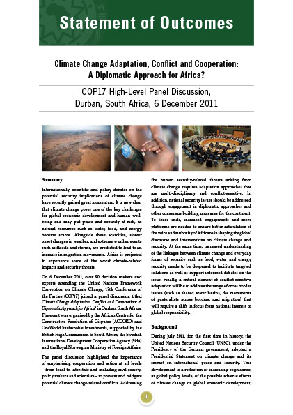 ACCORD - Conference paper - 2011 - Climate Change Adaptation Conflict and Cooperation