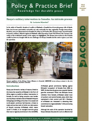 ACCORD - PPB - 19 - Kenyas military intervention in Somalia