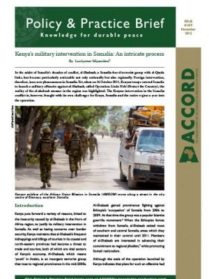 ACCORD - PPB - 19 - Kenyas military intervention in Somalia