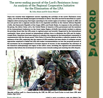 ACCORD - PPB - 24 - The never ending pursuit of the Lords Resistance Army
