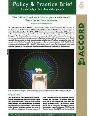 ACCORD - PPB - 26 - The oau-au and an Africa at peace with itself