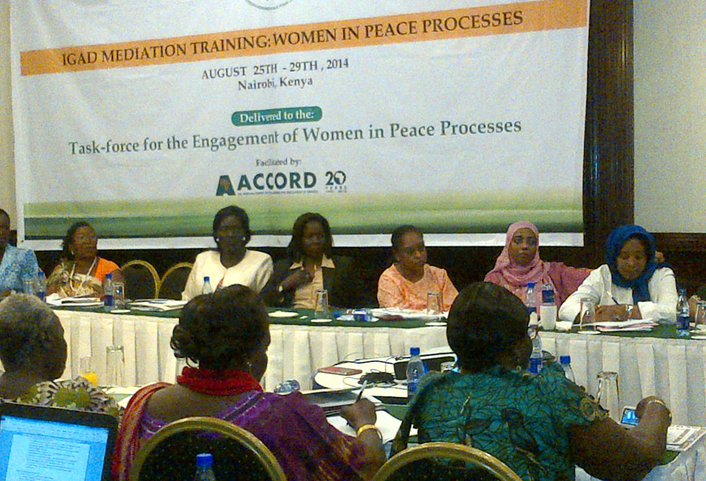ACCORD?s Training Unit collaborates with IGAD to train women mediators from Sudan and South Sudan