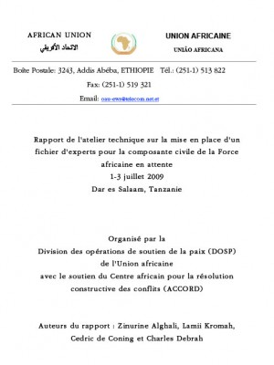 ACCORD - Report - Report of the African Standby Force Civilian Dimension Technical Rostering Workshop - French