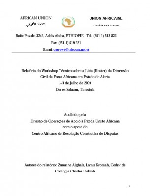 ACCORD - Report - Report of the African Standby Force Civilian Dimension Technical Rostering Workshop - Portuguese