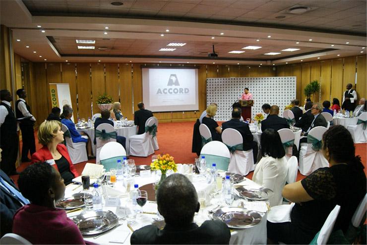 Madame Graca Machel hosts ACCORD luncheon 2