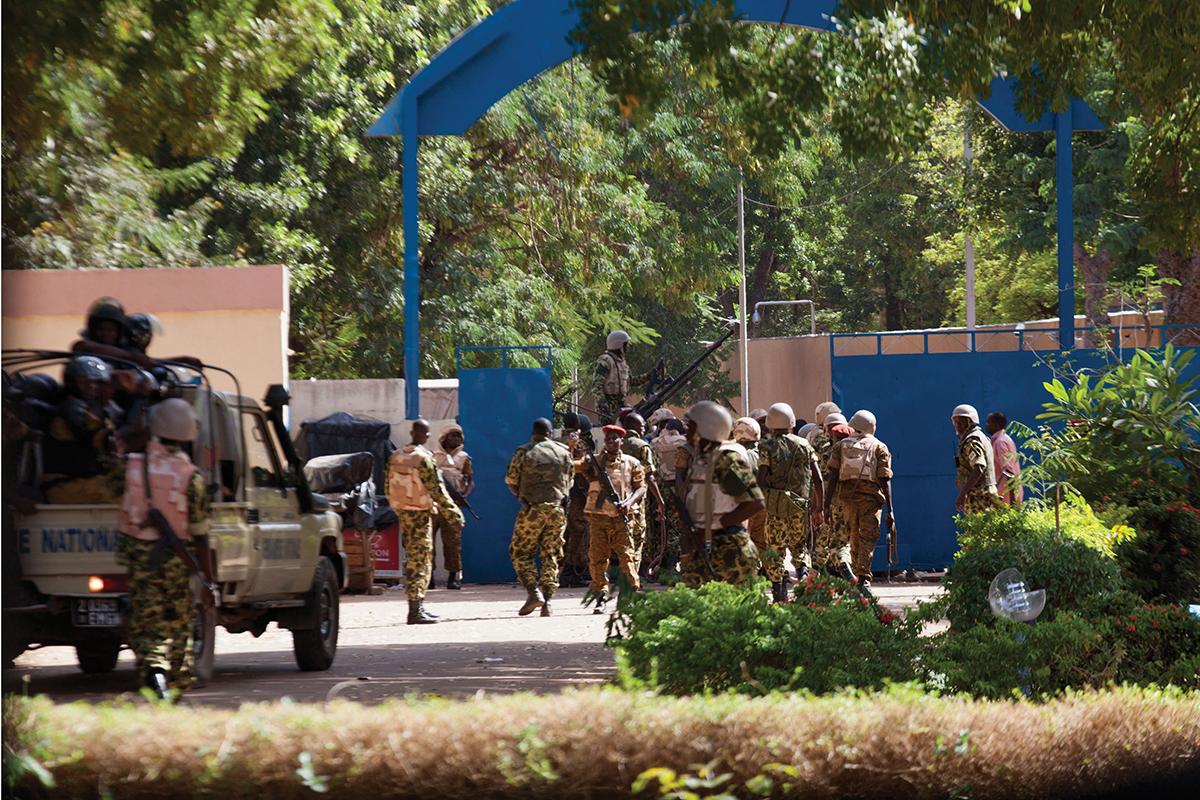 Soldiers take over the state TV headquarters in Ouagadougou
