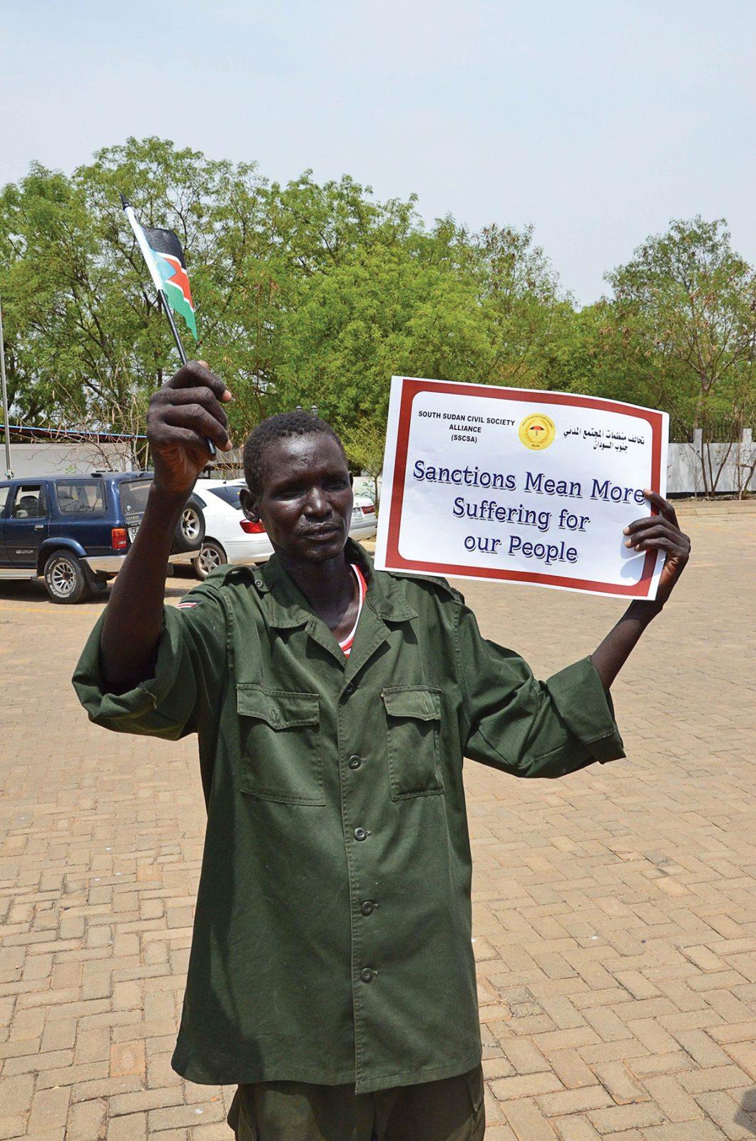 Protest against UN's sanctions