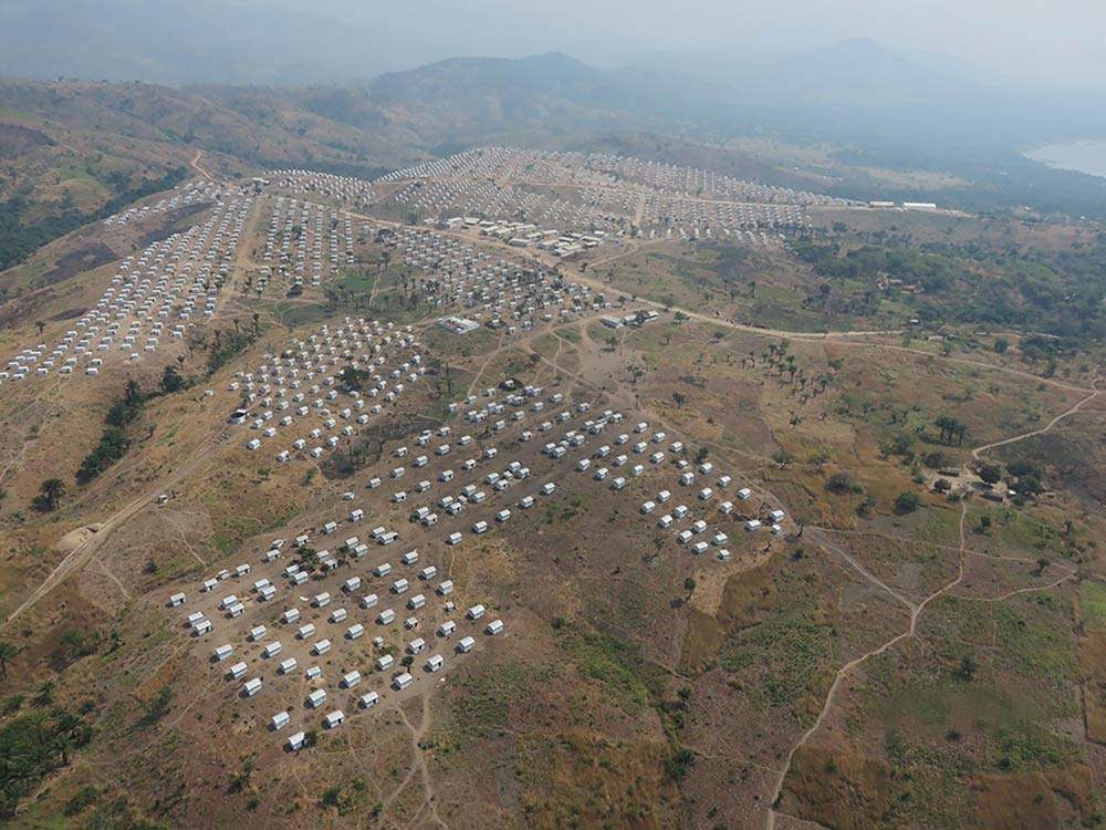 aerial view of a camp