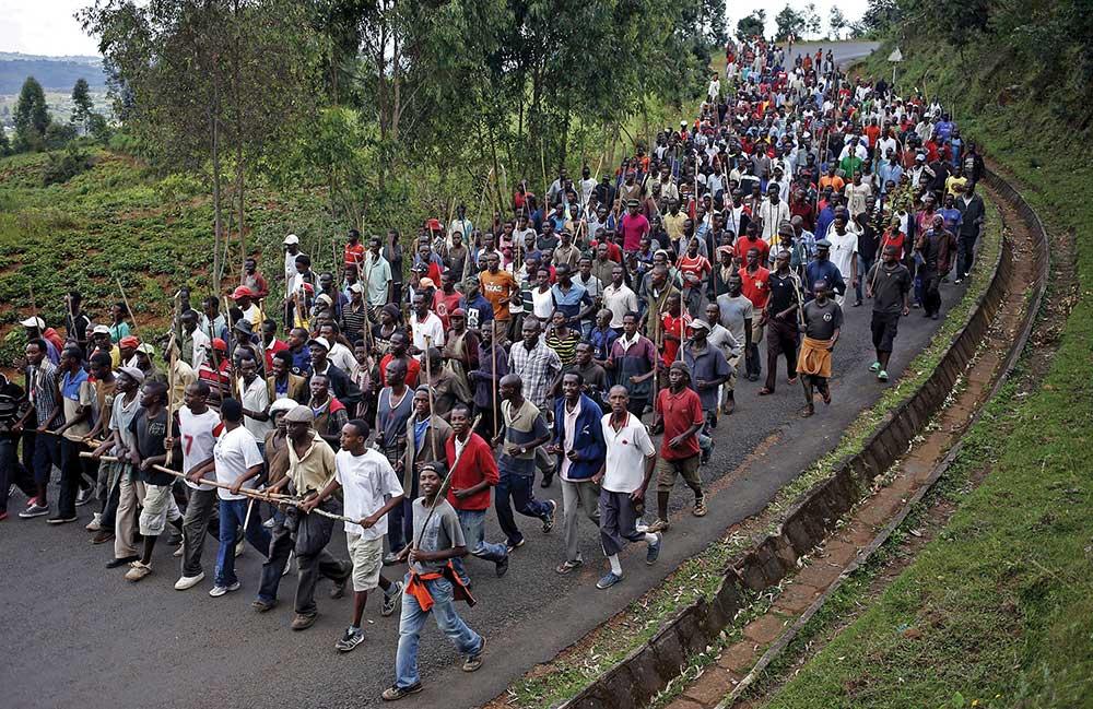 protest of Burundi's president