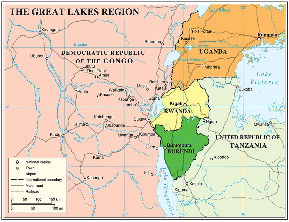 africa map great lakes