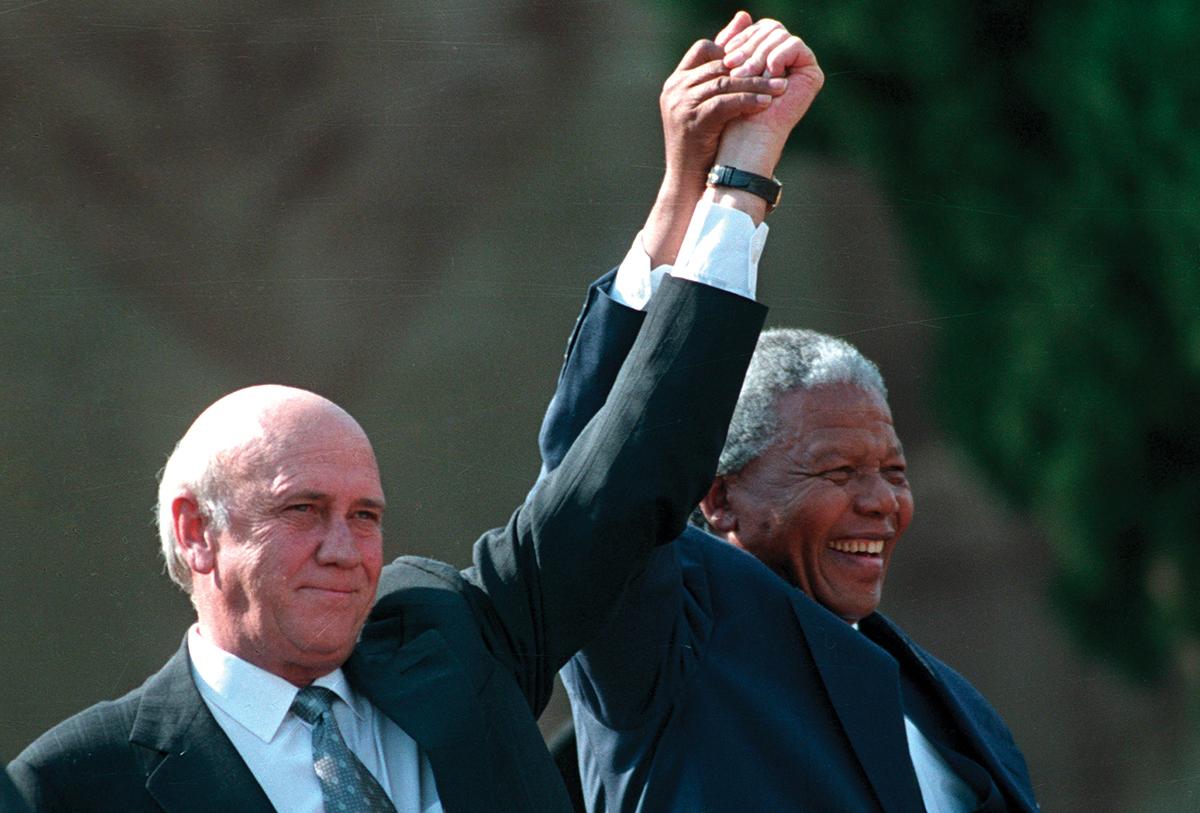 Mandela and President F.W. de Klerk