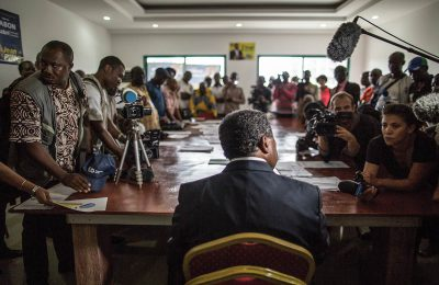 The emerging field of media and peacebuilding has experienced an unprecedented growth. The media can create new frontiers to redefine conflict management. (GALLO IMAGES/AFP/MARCO LONGARI)