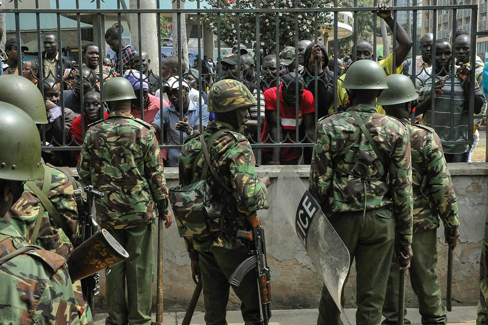 Kenyan anti-riot police