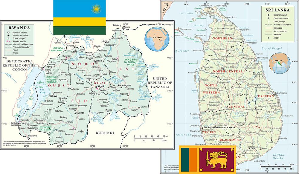 Rwanda and Sri Lanka