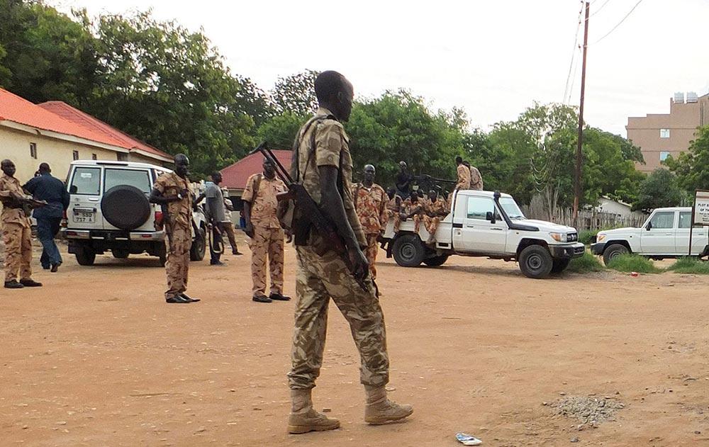 South Sudanese Policemen
