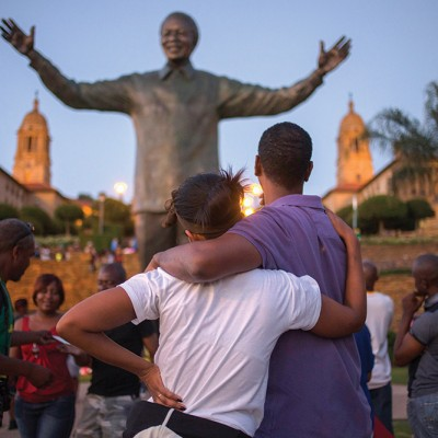 Bronze Statue Of Late Former South African President Nelson Mandela