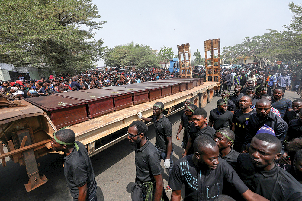 Coffins Of People Killed By Fulani Herdsmen