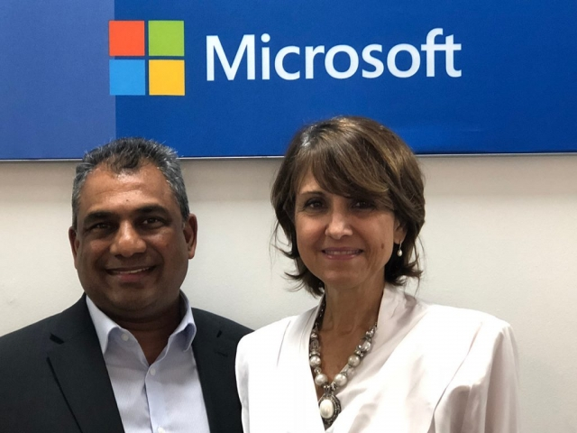 Executive Director, Dr. Vasu Gounden meets Ms. Charlene Verzmoter, Philanthropic Lead of Microsoft, South Africa (08 November 2018, Johannesburg)