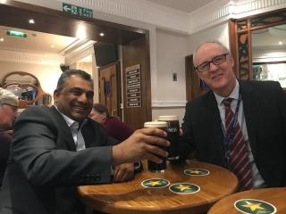 Adv. Gounden with Irish Ambassador to South Africa, H.E. Liam MacGabhann