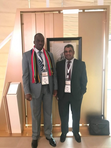 ACCORD Executive Director with the South African Consul General in Dubai, Mr. Mogobo David Magabe