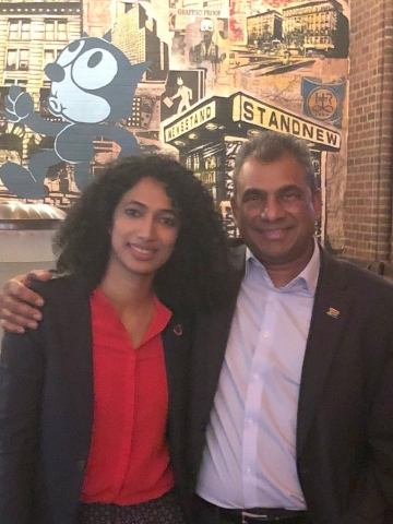 Meeting with Trisha Shetty, the Founder of SheSays India & Steering Committee member of the Paris Peace Forum (25 September 2018, New York)