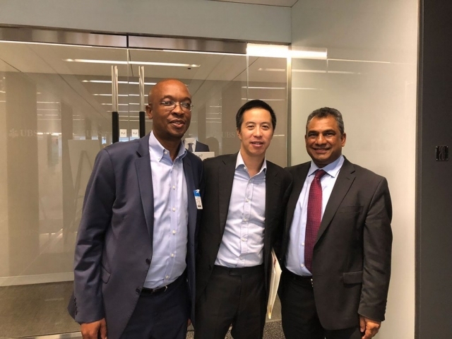 Meeting with Mr. Andrew Lee, Head of Sustainable & Impact Investing at UBS & Mr. Parks Tau, President of the United Cities and Local Government (UCLG)