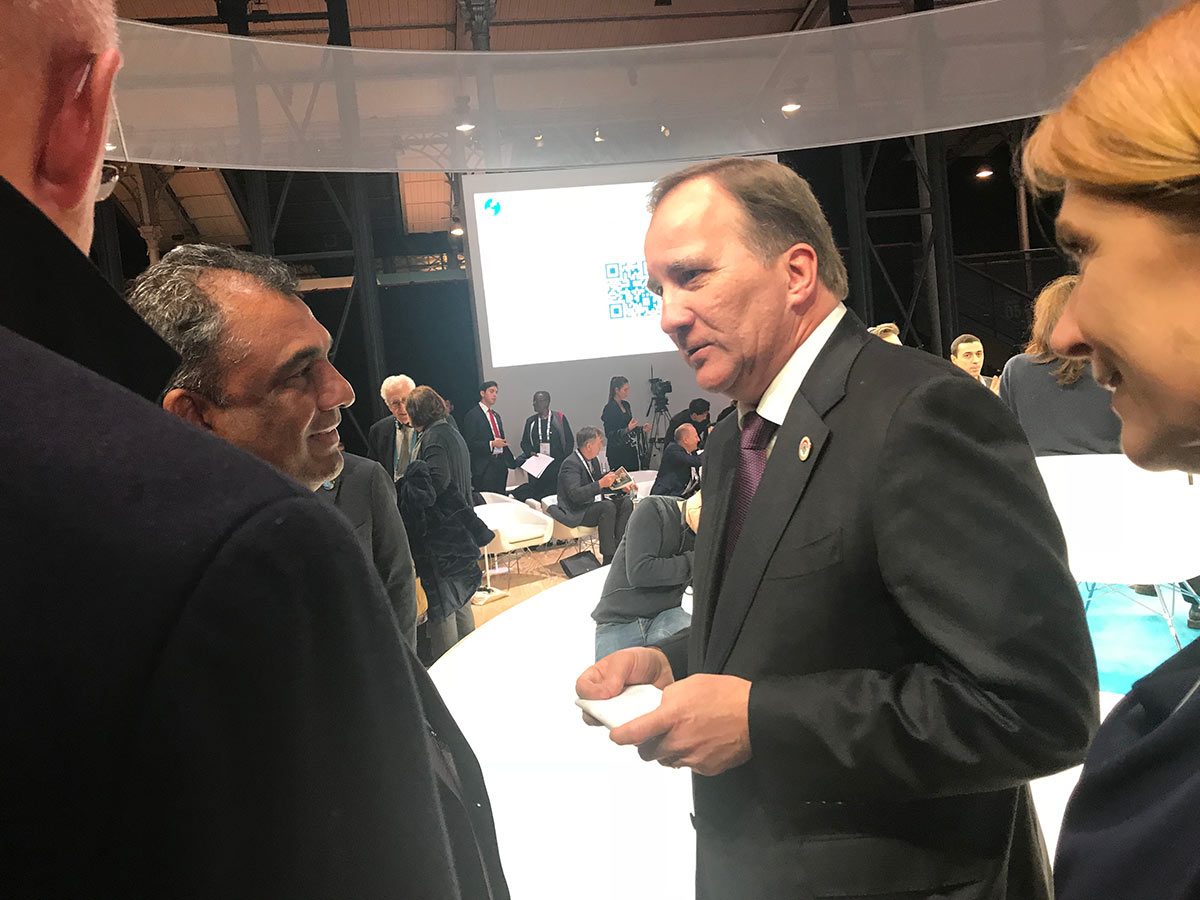 Adv. Gounden with Prime Minister of Sweden, Stefan Löfven
