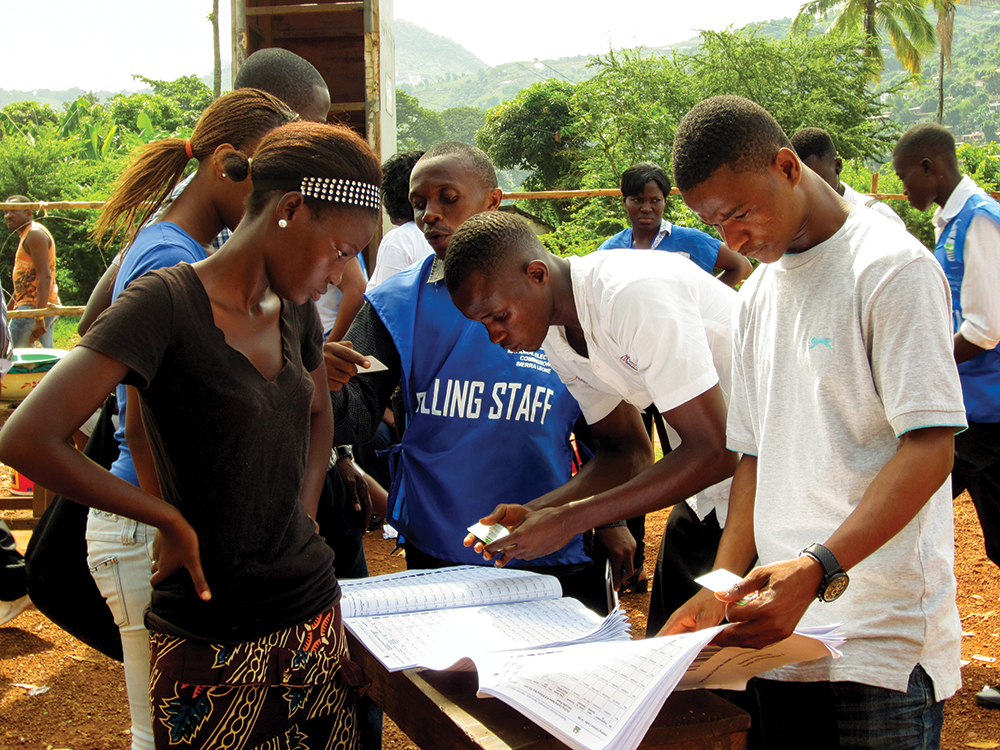 Voting in Sierra Leone