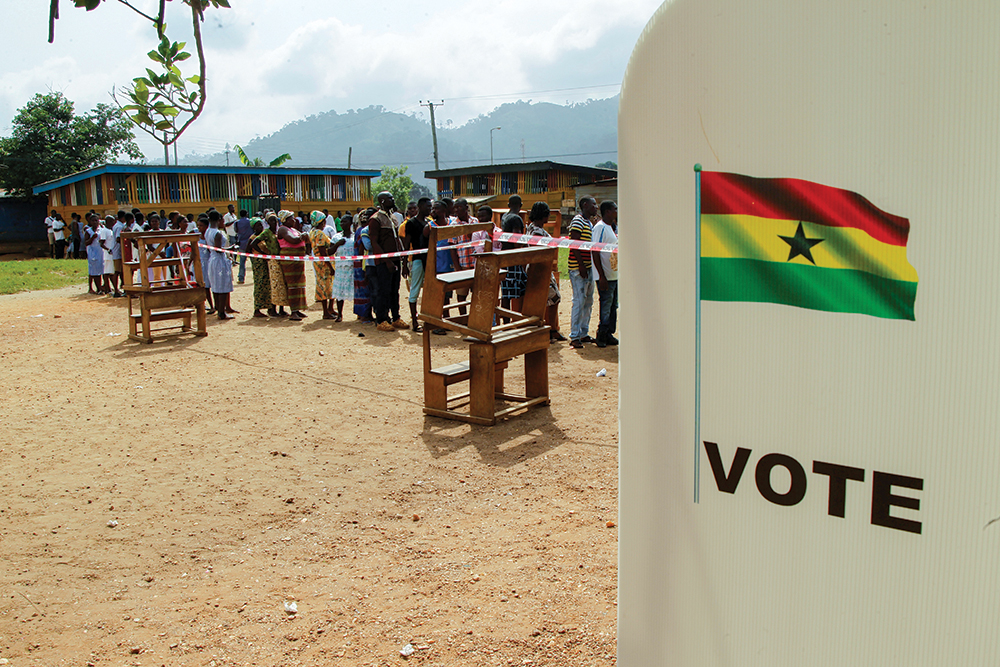 Polling station in Kibi