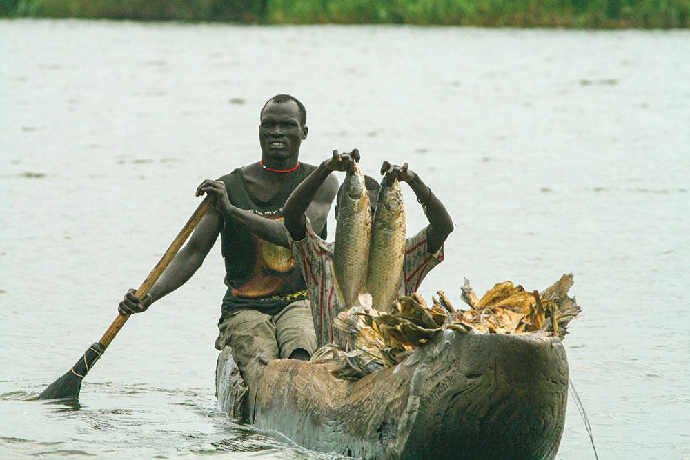 Nile fishing and farming