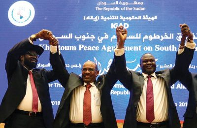 Omar Al-Bashir, Salva Kiir and Riek Machar