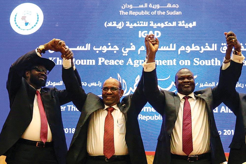 Omar Al-Bashir, Salva Kiir and Riek Machar
