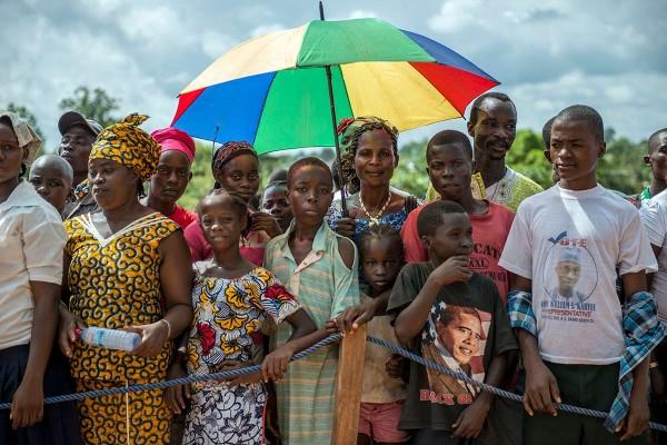 Liberians celebrating