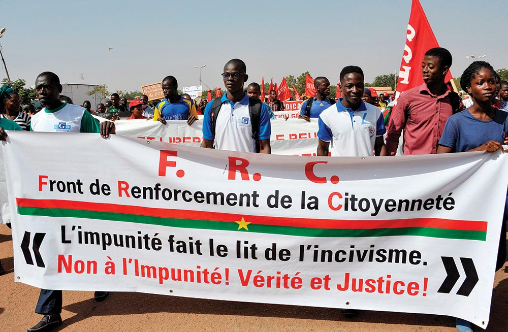 March in Ouagadougou, Burkina Faso