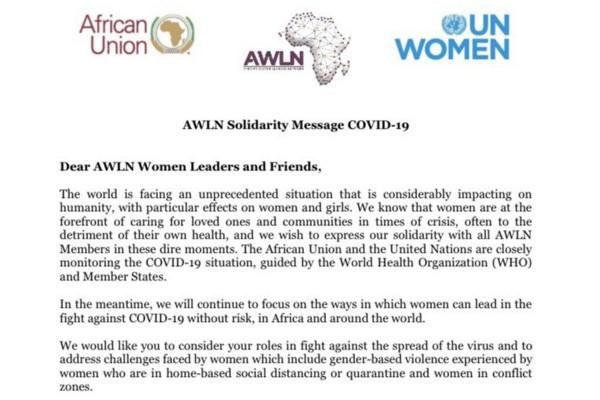 African Women Leaders Network press release