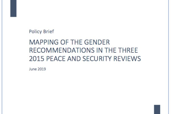 Policy Brief Mapping Gender Recommendations