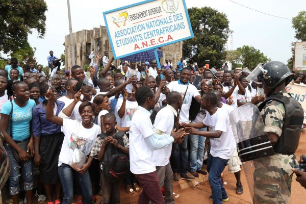Students in Bangui
