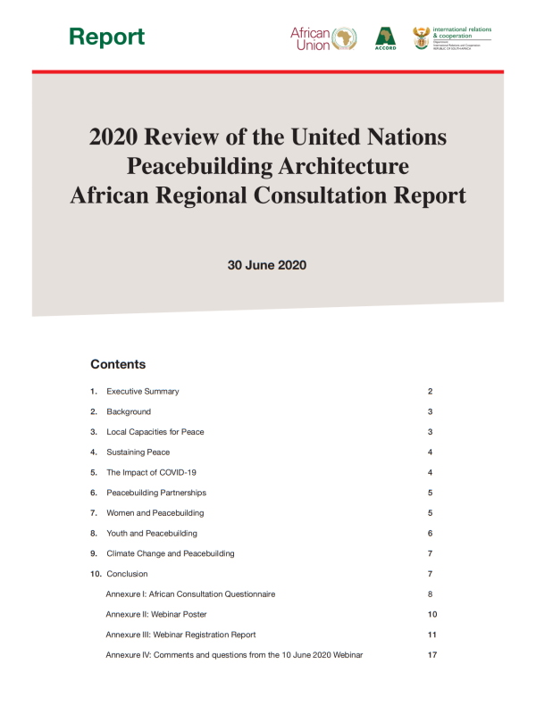 2020 Review UN Peacebuilding Architecture