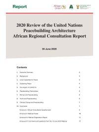 2020 Review UN Peacebuilding Architecture