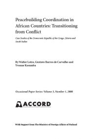 ACCORD - Occasional Paper - 2008-1 - Peacebuilding coordination in African countries