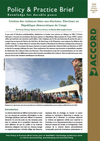 ACCORD - PPB - 13 - Managing Election-related Violence - French