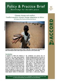 ACCORD - PPB - 14 - Climate change and conflict